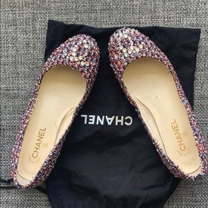 Authentic Tweed Channel flats